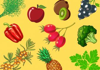 У яких овочах і фруктах найбільше вітаміну С?